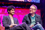 "Avan Jogia and Paul Wernick on stage at a ""Zombieland 2"" Panel and Surprise Screening at Los Angeles Convention Center on October 12, 2019 in Los Angeles, California."