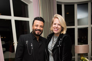 Designer Zuhair Murad (L) and writer Booth Moore attend the Zuhair Murad cocktail party at Sunset Tower Hotel on November 16, 2016 in West Hollywood, California.