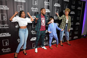 "(L-R) Bresha Webb, J. Lee, Cooper J. Friedman, and Emmy Raver-Lampman attend ""aTypical Wednesday"" Los Angeles Premiere at The Montalban on June 24, 2020 in Hollywood, California."