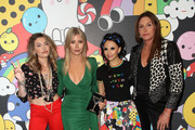 (L-R) Paris Jackson, Sophia Hutchins, Stacey Bendet and Caitlyn Jenner attend the alice + olivia by Stacey Bendet x FriendsWithYou Collection LA launch party at the Hollywood Athletic Club on November 07, 2019 in Hollywood, California.