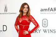 Barbara Palvin in Crimson Lace - Best Dressed at the 2015 amfAR Gala