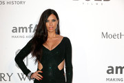Adriana Lima in Emerald Sequins - Best Dressed at the 2015 amfAR Gala