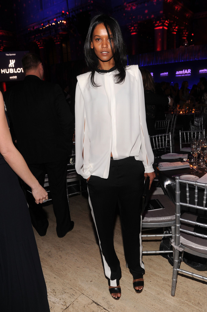 Model Liya Kebede attends the amfAR New York Gala To Kick Off Fall 2012 Fashion Week at Cipriani Wall Street on February 8, 2012 in New York City.