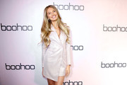 Romee Strijd attends boohoo x All That Glitters Launch Party on November 07, 2019 in Los Angeles, California.