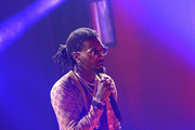 Offset of Migos performs onstage at iHeartRadio album release party with Migos presented by MAGNUM Large Size Condoms at iHeartRadio Theater on January 22, 2018 in Burbank, California.