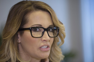 jessica drake Gloria Allred Holds Press Conference Announcing New Allegations of Sexual Misconduct Against Donald Trump