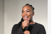Venus Williams speaks onstage at theCURVYcon Powered By Dia&Co on September 7, 2018 in New York City.