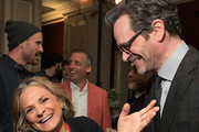 Amy Sedaris (L) and Tom Everett Scott attend the truTV Happy Hour at The Langham Huntington Hotel and Spa on February 11, 2019 in Pasadena, California. 510191