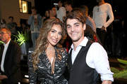 "Farrah Abraham and RJ Mitte attend WE tv Celebrates The 100th Episode Of The ""Marriage Boot Camp"" Reality Stars Franchise And The Premiere Of ""Marriage Boot Camp Family Edition"" at SkyBar at the Mondrian Los Angeles on October 10, 2019 in West Hollywood, California."