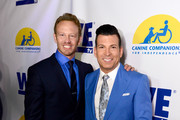 Actor Ian Ziering (L) and celebrity wedding planner David Tutera attend an event, hosted by WE tv and Ian Ziering, to raise awareness for Canine Companions for Independence at Boulevard 3 on May 7, 2015 in Los Angeles, California.