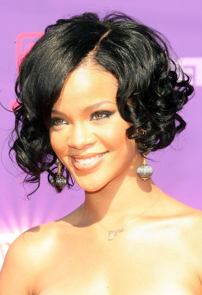 out of her stacked bob haircut, which she styled both curly and straight