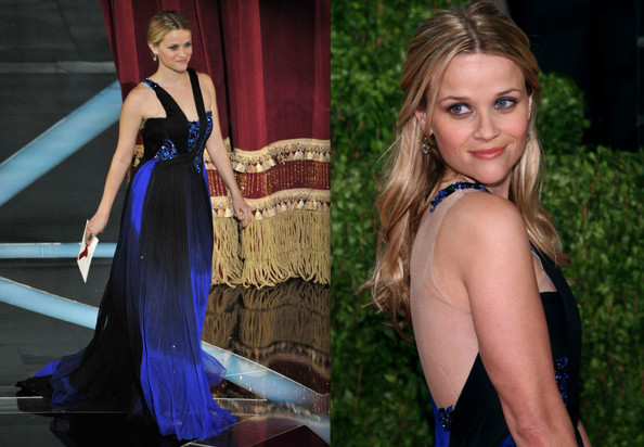 I was shocked to see Reese Witherspoon in a sparkling Rodarte dress.