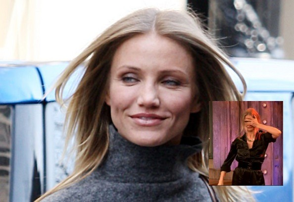 Last night, Cameron Diaz made an appearance on Late Night with Jimmy Fallon,