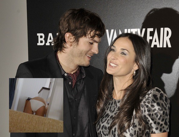 ashton kutcher and demi moore. Demi Moore#39;s derriere is all