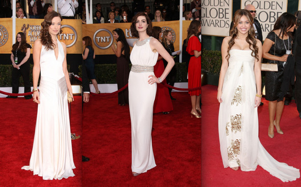 Celebrity Gown Trends 2009: Ice White - Awards Season Style Rundown ...