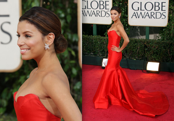 dress eva globe golden longoria. Actress Eva Longoria Parker