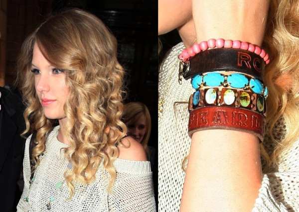 Taylor Swift Also The Handpainted Love With Hearts Are Charm Bracelets