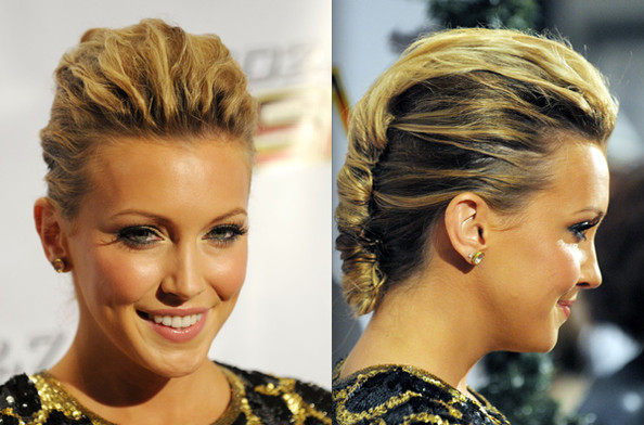 twisted bun hairstyle. textured and twisted bun