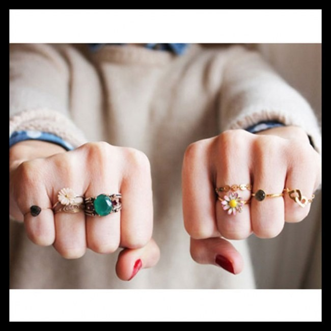54 hot handscapes how to wear stackable rings with style