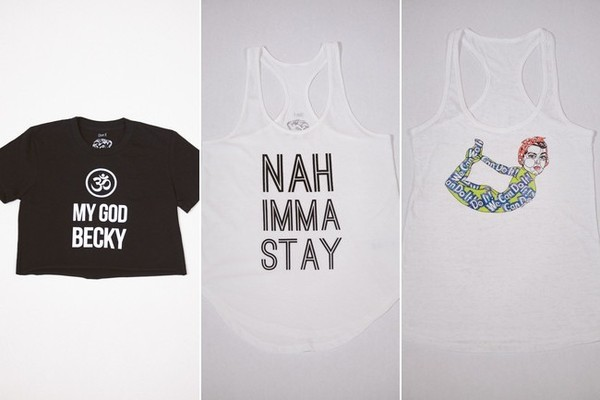 Ohm K The Mix-A-Lot Crop Top, $30; Nah Imma Stay, $36; Rosie Tank, $40
