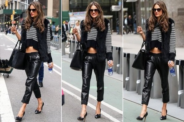 We Actually Want a Pair of Leather Jogging Pants (And We Blame Alessandra Ambrosio!)