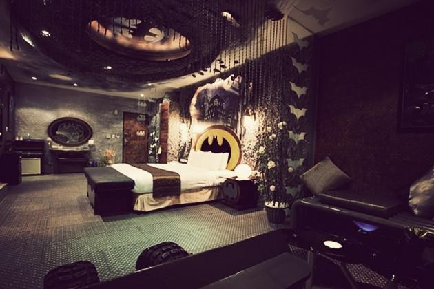 Sleep in Batman's bedroom