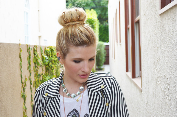 Hair How To: Spice Up Your Basic Sock Bun with Some Braids
