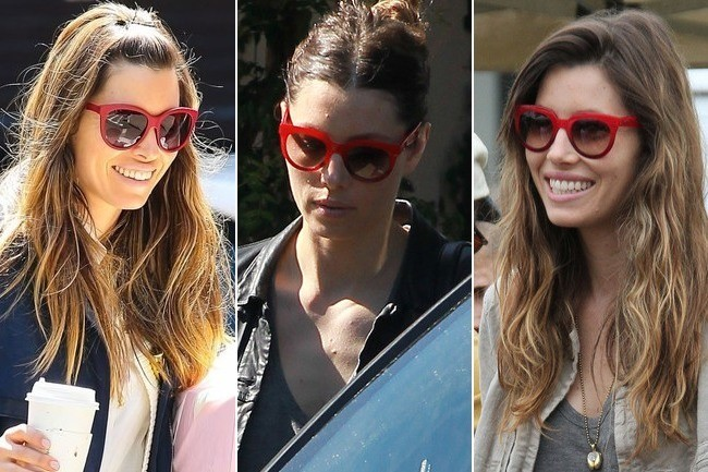 Jessica Biel's Red Dolce & Gabbana Sunnies: Get the Look for Less!
