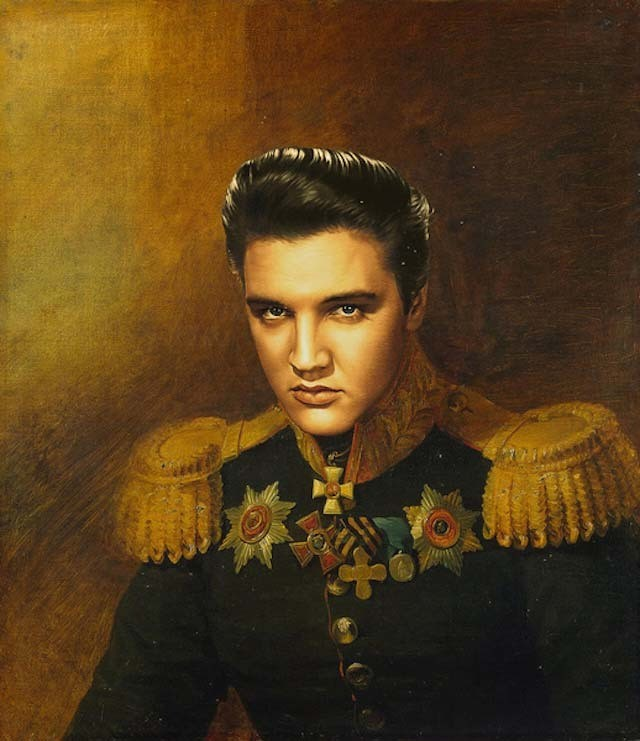 See How One Artist Turned Today's Celebs into Old School Military Knight Paintings