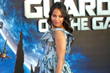 Zoe Saldana Looks Gorgeous in Flowy Floral