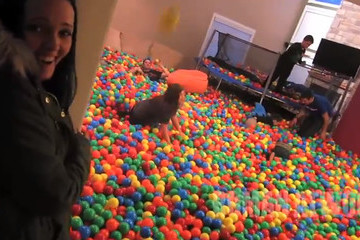 Watch: Dad Makes House into a Giant Ball Pit