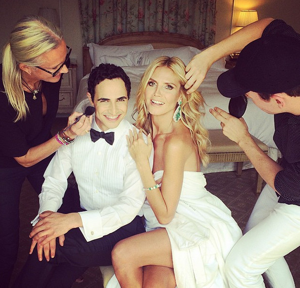 Heidi Klum has her glam squad on-call for the big night.