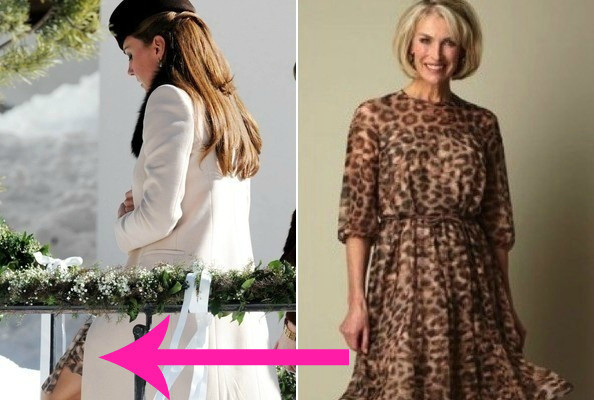 Kate Middleton's Royal Baby Bump Left the House in Leopard Print