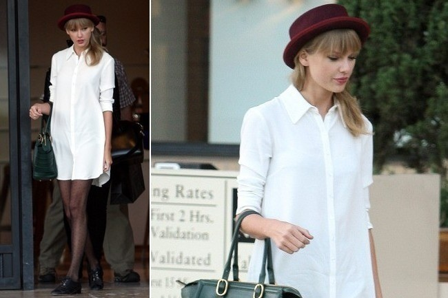 We're Totally Enamored With Taylor Swift's Shirtdress