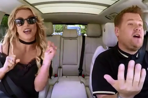 Britney Spears and James Corden Dance Until the World Ends in New Car Karaoke