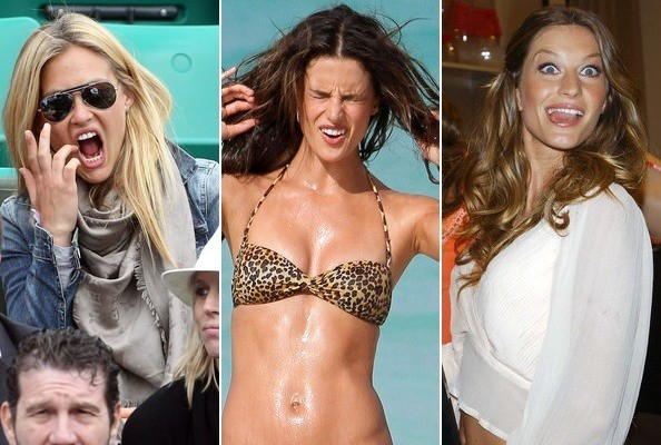 Supermodels Making Funny Faces