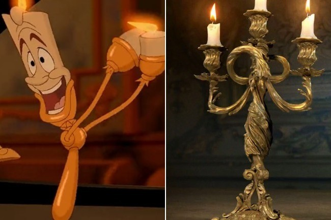 First Look Lumiere Cogsworth In The Live Action 39 Beauty