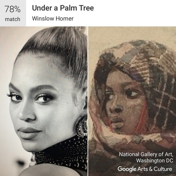 Celebrity Matches on Google's Art Selfie App
