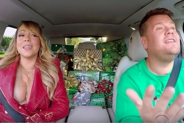 Image result for all i want for christmas is you carpool karaoke