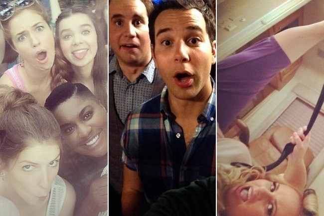 A behind the scenes instagram peek at 39 pitch perfect 2 - Pitch perfect swimming pool scene ...