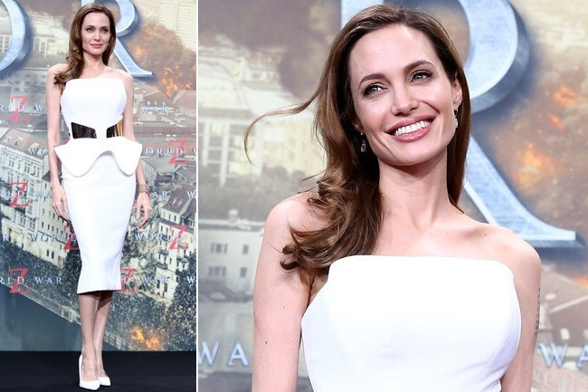 Angelina Jolie's Flawless Little White Dress