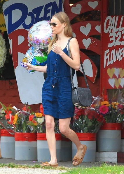 Found: Kate Bosworth's Denim Tank Dress and Beaded Moccasins