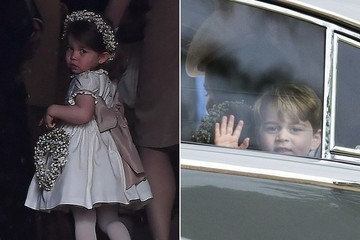 All the Adorable Snapshots of Prince George and Princess Charlotte at Aunt Pippa Middleton's Wedding