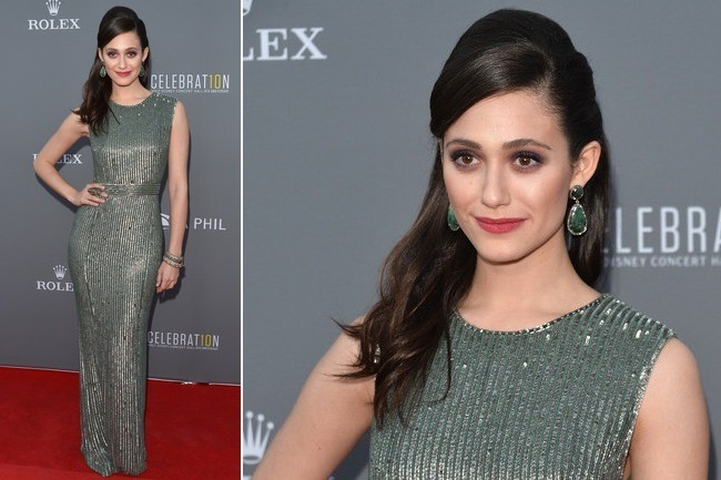 Emmy Rossum Brings Classic Glamour to the Red Carpet