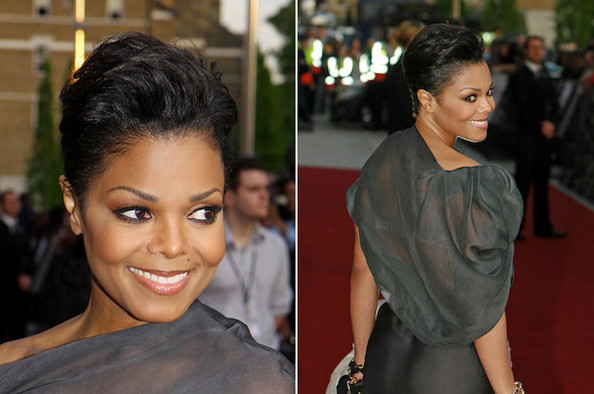 An Ethereal Gray Lanvin Dress And Flawless Skin Help Show Off Janet Jackson S New Haircut Bauer Griffin