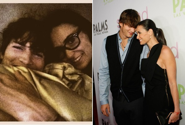 demi moore and ashton kutcher relationship timeline paintings