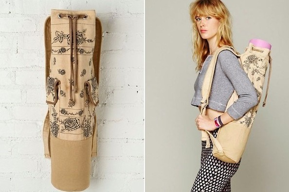 StyleBistro STUFF: Rose-Embellished Free People Yoga Bag