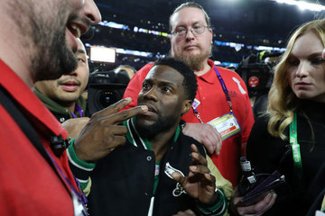 Kevin Hart Tried (and Failed) to Drunkenly Mount the Super Bowl Stage