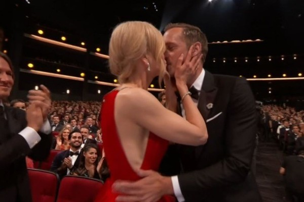 Nicole Kidman Kissed Alexander Skarsgård at the Emmys and Everyone's a Tad Confused