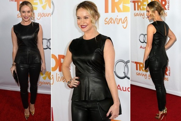 How to Pull Off Leather On Leather, As Seen On Becca Tobin